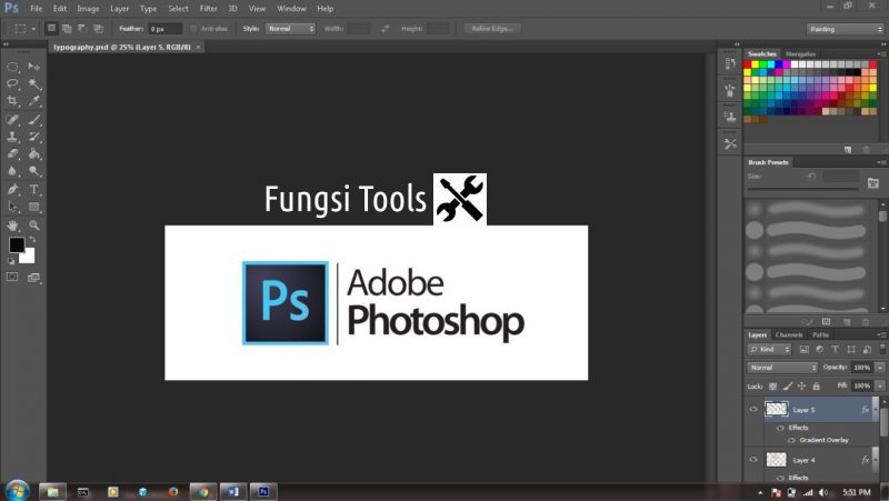fungsi tools photoshop